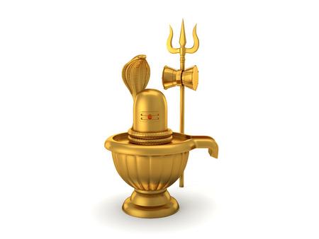linga: Hindu God Siva Linga with Trident