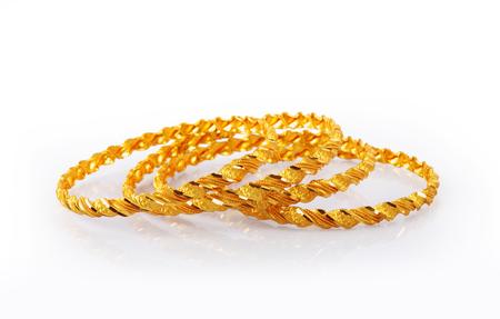 bride bangle: Indian Traditional Gold Bangles Stock Photo