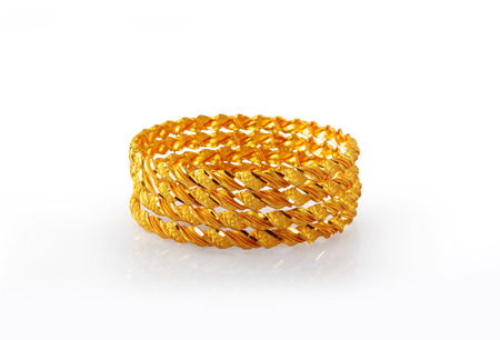 gold ornaments: Indian Traditional Gold Bangles Stock Photo
