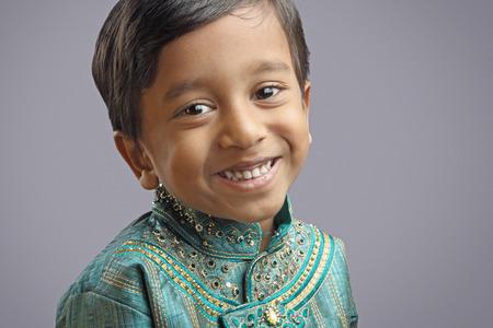 kurta: Indian Little Boy with Traditional Dress