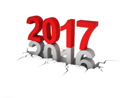 New Year 2017 Stockfoto - 54375499