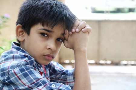 Portrait of Indian Little Boy Stock Photo