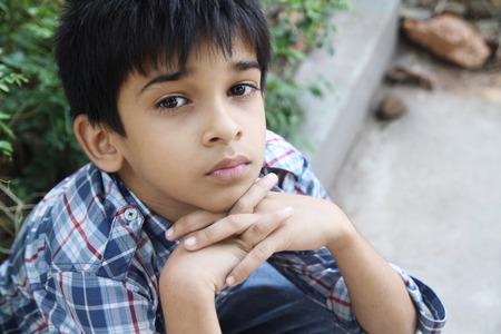 Retrato de Little Boy indio Foto de archivo