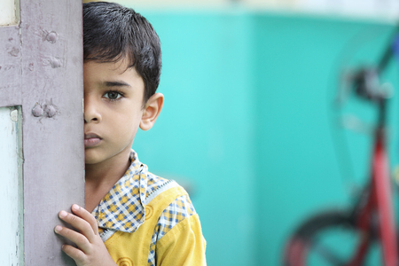 Portrait of Indian Little Boy Banque d'images