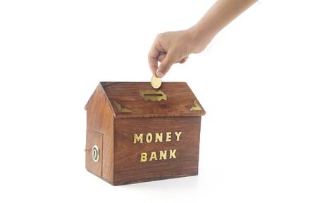Depositing money in Money Box
