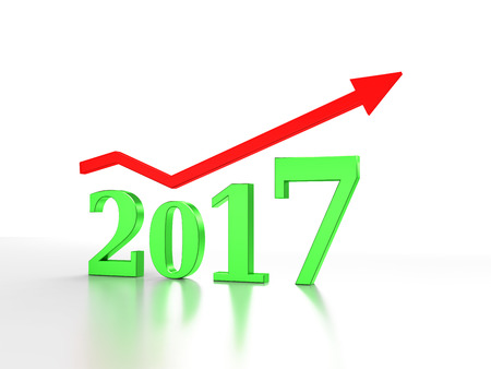 holiday profits: New Year 2017 3D Rendering Image