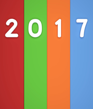 year 3d: New Year 3D Rendering Image Stock Photo