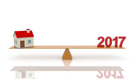 holiday villa: New Year - 3D Rendering Image Stock Photo