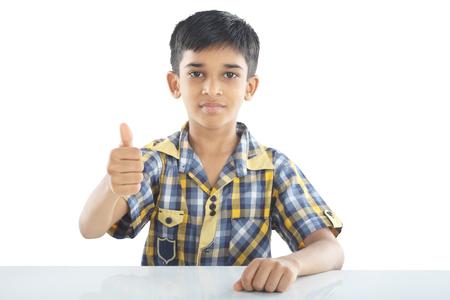 sucess: Portrait of indian Boy