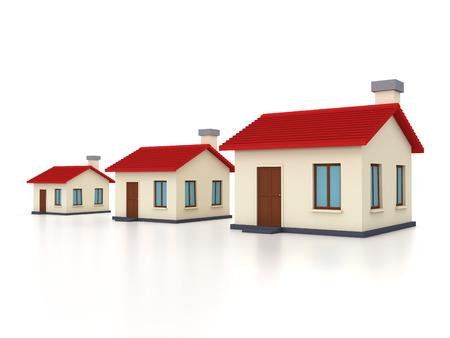 model home: Home Model 3D Rendering Image