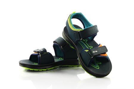 sandels: Childrens footwear isolated on a white