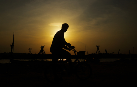 Portrait of Indian Boy With Cycle
