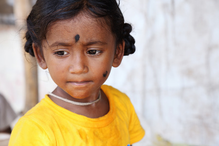 Portrait of Indian Little Girl