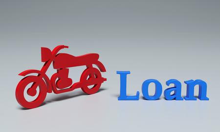 Bike Loan Concept - 3D Rendering Image