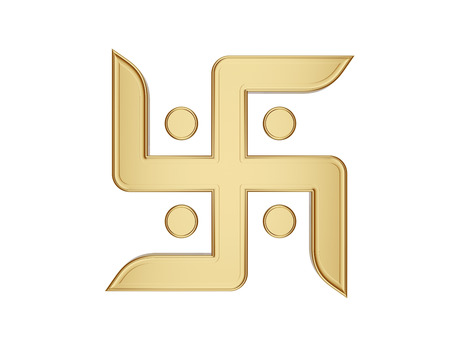 swastik: hindu Symbol Stock Photo