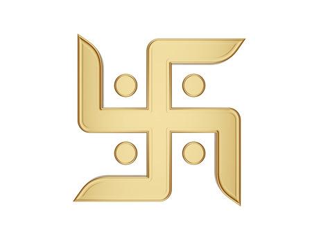 3d om: hindu Symbol Stock Photo