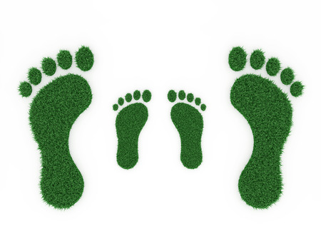 ecologically: Foot print - 3D Rendered Image