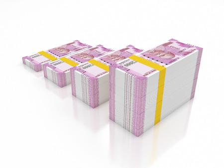 Nieuwe Indiase Valuta - 3D Gemaakt Afbeelding Stockfoto - 69367409