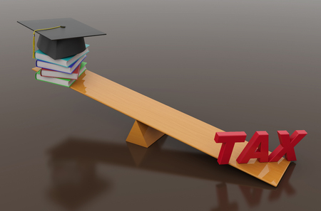 taxpayer: Tax Concept with Books - 3D Rendered Image