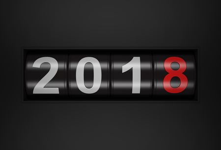 newyear: New Year 2018 - 3D Rendered Image