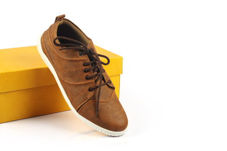 Indian Made Shoe Stock Photo