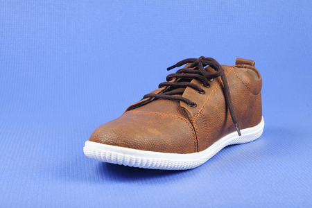 Indian made Mens Shoes Stock Photo