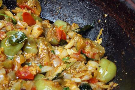 Eggplant(Brinjal) Curry Stock Photo