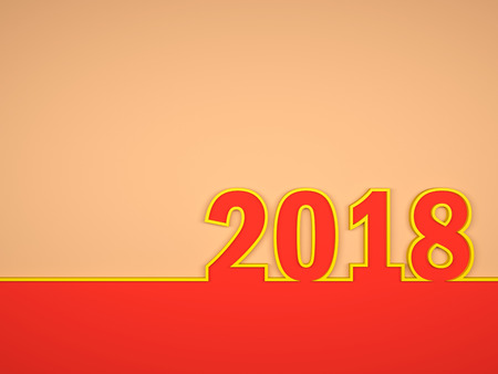 New Year 2018 - 3D Rendered Image