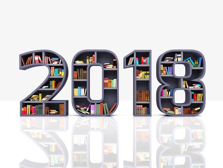 Neujahr 2018 - 3D Rendered Image Standard-Bild - 79539855