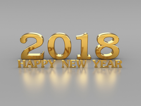 New Year 2018- 3D Rendering Image