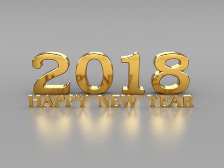 New Year 2018- 3D Rendering Image 版權商用圖片 - 82838028