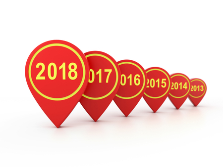 New Year 2018 - 3D Rendering Image