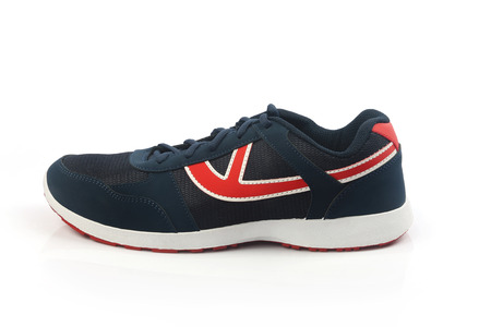 Indian Made Mens Sports Shoes Stock Photo