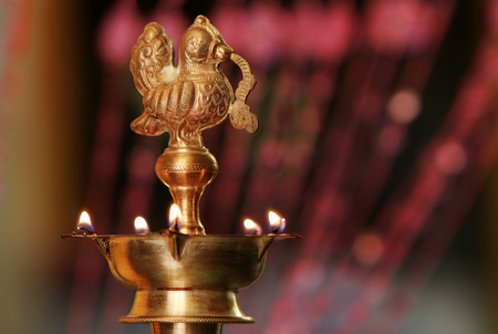oillamp: Indian Traditional Oil Lamp with Flame
