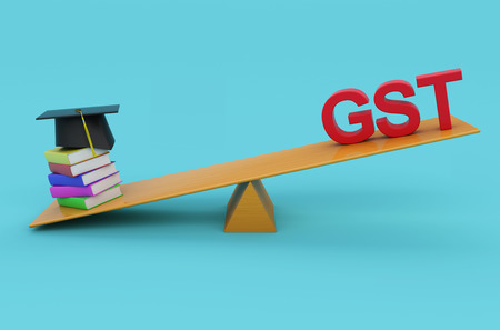 taxpayer: G S T Concept withTextBook - 3D Rendered Image