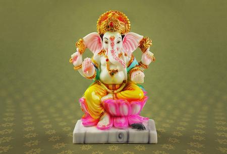 Colourful Hindu God Ganesha Statue