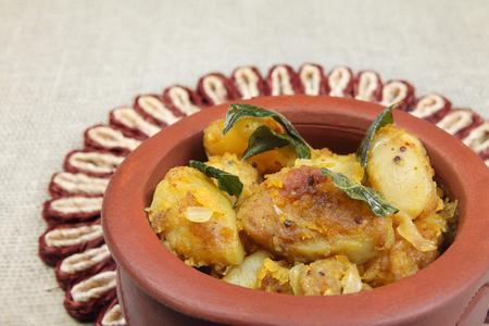 Indian Made Potato Recipe Stock Photo