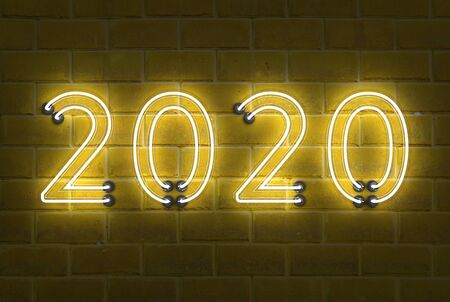 New Year 2020 Creative Design Concept - 3D Rendered Image