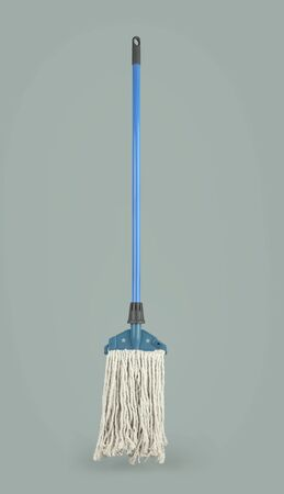 Closeup of Mop on the Gray Background