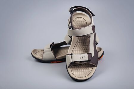 Indian Made Men's sandals Stock Photo