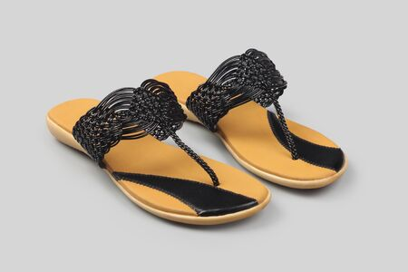 Indian made girl's lather sandals