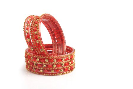 Indian traditional colorful glass bangles with unique design