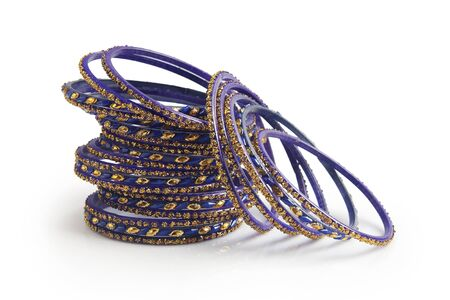 Indian traditional colorful glass bangle with unique design Standard-Bild