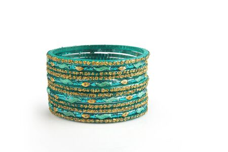 Indian traditional colorful glass bangle with unique design