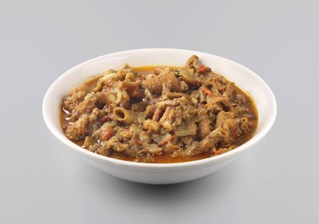 Indian traditional food goat intestine gravy