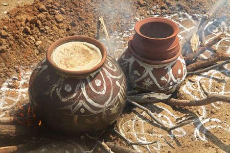 Traditional(Pongal) festival celebration in india Banco de Imagens