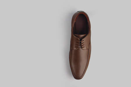 Men's formal leather Shoes isolated on gray