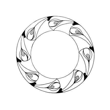 circular graphic design for uzor.Ornament or pattern Illustration
