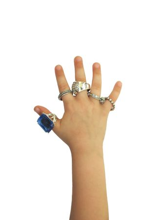 Hand with rings photo