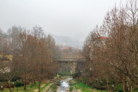 koprusu: Boyacikullugu bridge and irgandi bridge in Bursa, Turkey Stock Photo